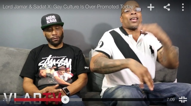 "@Vladtv: Lord Jamar & Sadat X – ""Gay Culture is Over Promoted"""